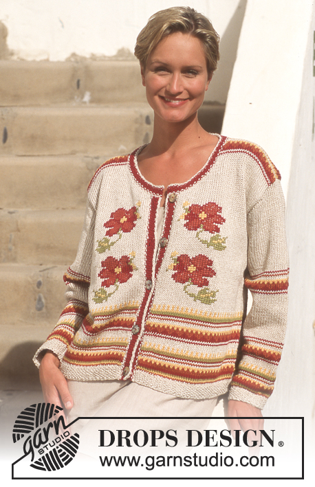 Mediterranean Rose / DROPS 46-11 - Free knitting patterns by DROPS ...
