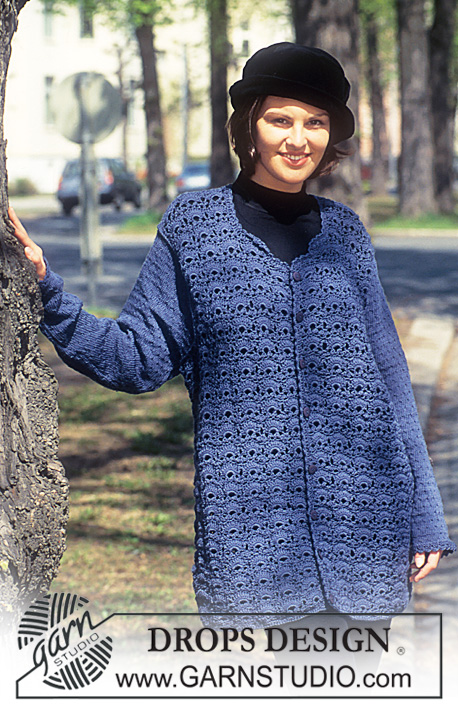 DROPS 48-7 - Crocheted jacket.
