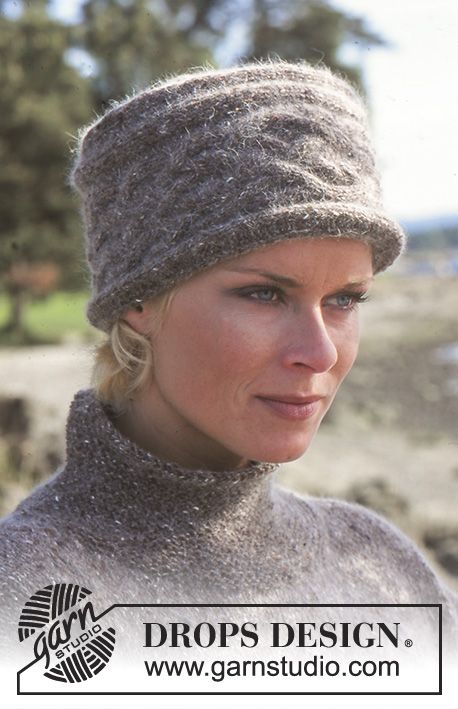Elaine Hat Drops 66 25 Free Knitting Patterns By Drops Design
