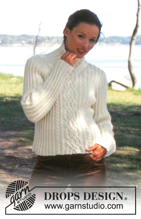 DROPS 67-4 - DROPS Pullover in Angora-Tweed