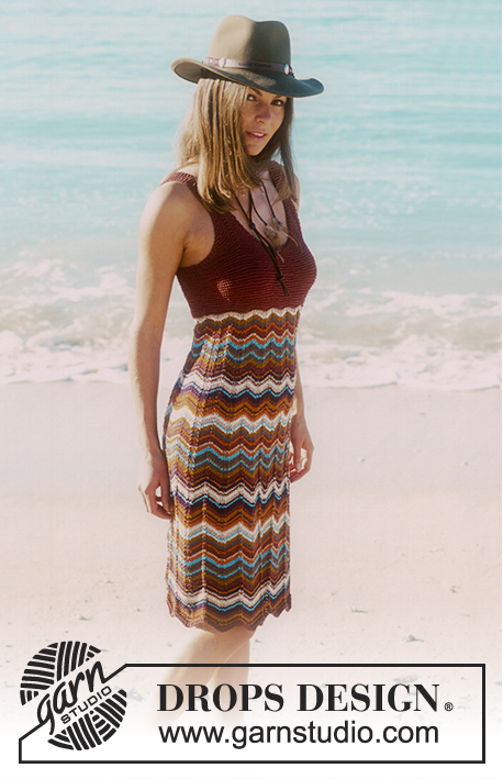 Beach Mermaid / DROPS 68-23 - DROPS Dress in Muskat