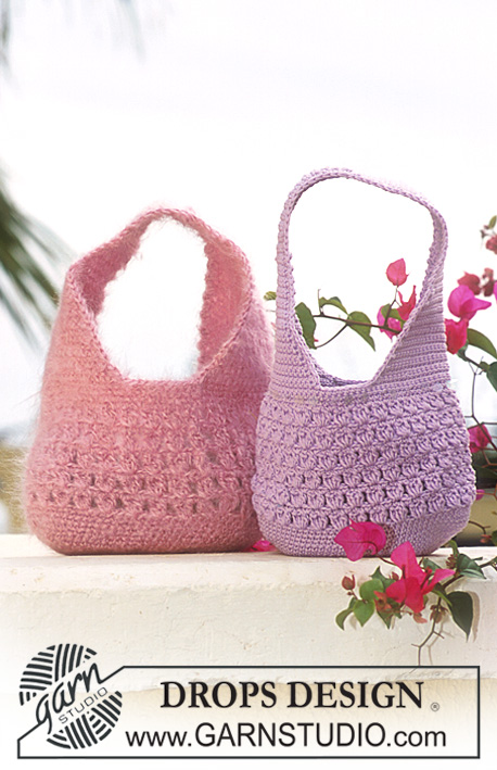 DROPS 69-26 - DROPS Crocheted Purse in Muskat or Vienna