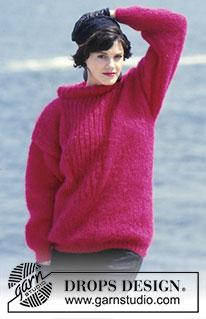Femme Crochet Tricot Style Chauve-souris Top Rose 8-16