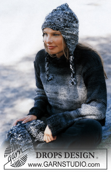 Pullover in Karisma Superwash and Vivaldi, Hat and Scarf in Ull-Flamé