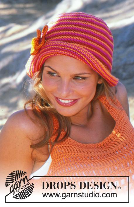 Just Peachy Hat   DROPS 82-34 - Modelos de tricô gratuitos por DROPS ... a28f348d17e
