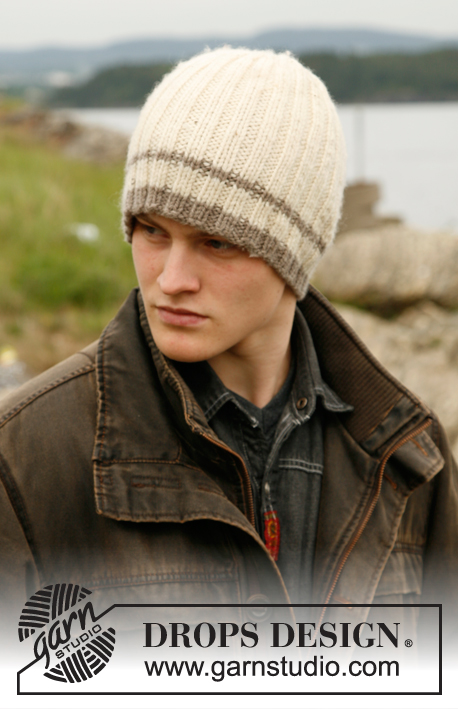 Outdoors / DROPS 85-5 - Men's knitted pullover with Nordic pattern in DROPS Karisma, plus hat in rib, in DROPS Alaska