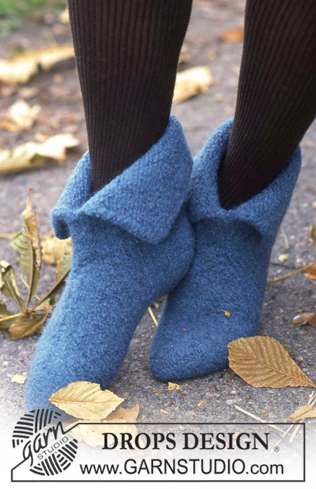 Neverland / DROPS 86-15 - DROPS Felted Slippers in Eskimo