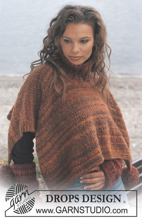 DROPS 86-22 - DROPS Poncho and Wristwarmers
