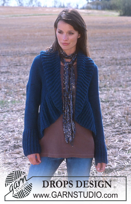 DROPS 91-23 - Cardigan in two strands Alpaca.