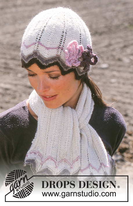 DROPS 93-12 - Hat, Scarf and Gloves in Alpaca
