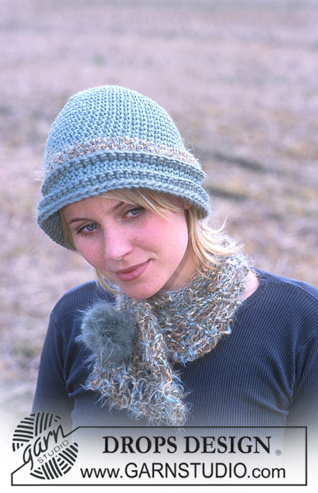 DROPS 93-34 - DROPS Hat and scarf in Alaska, Eskimo and Fox