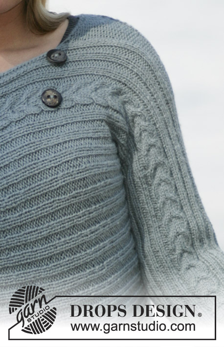 DROPS 96-3 - DROPS Short jacket knitted from side to side in Alpaca