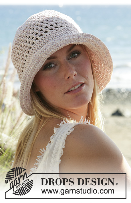 "Sunny Daze / DROPS 99-23 - DROPS Crochet hat in ""Paris"""