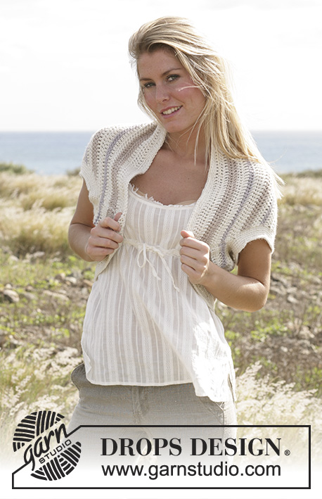 "Galapagos / DROPS 99-9 - DROPS shrug crochet with ""Silke-Alpaca""."