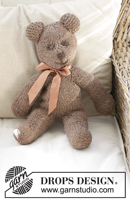 """Knitting Pattern For Teddy Bear French  Bear  16/"""" In Height"""