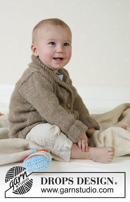 Little Alfred / DROPS Baby 13-13 - Jacket and soft toy in Alpaca