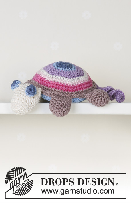 Timmy the Turtle / DROPS Baby 13-31 - Crochet DROPS turtle