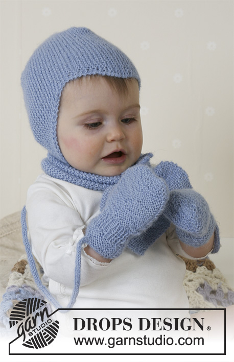 db14fba22b1 Baby Aviator Hat   DROPS Baby 14-16 - Free knitting patterns by ...