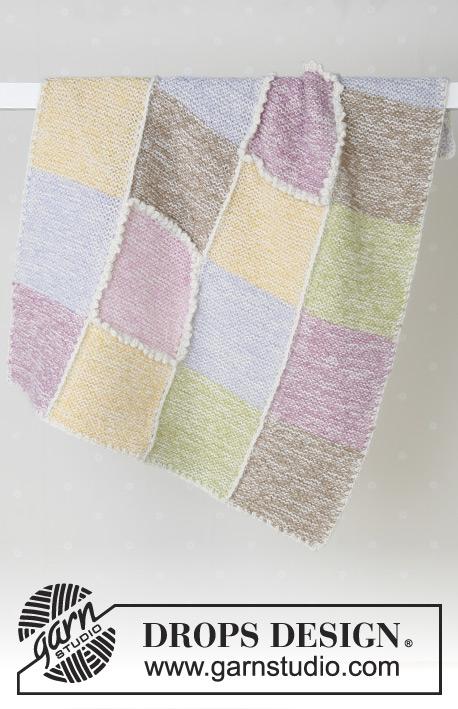 Pastel Checkers / DROPS Baby 14-19 - Patrones de punto gratuitos por ...