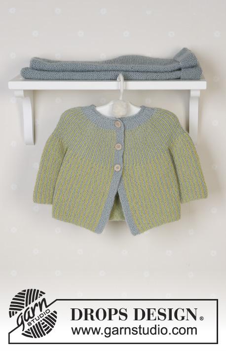 "22/""  Knitting Pattern Blackberry Stitch Striped Baby Jacket Hat Leggings 16/"""