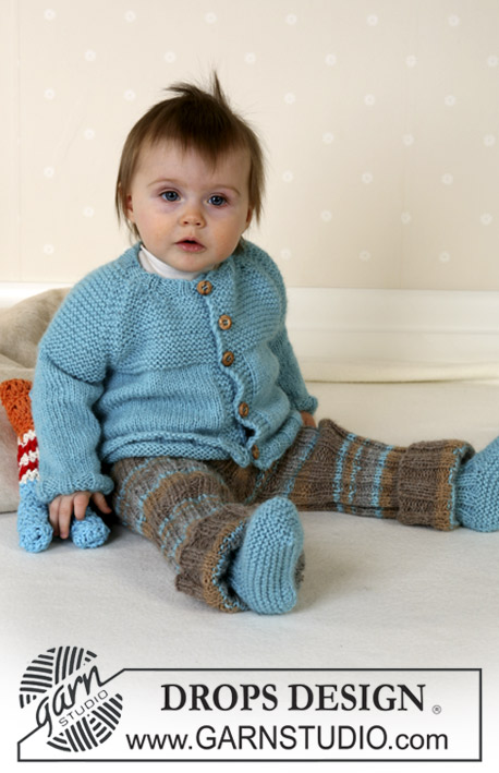DROPS Baby 14-29 - Jacket, trousers, booties and soft toy in Alpaca
