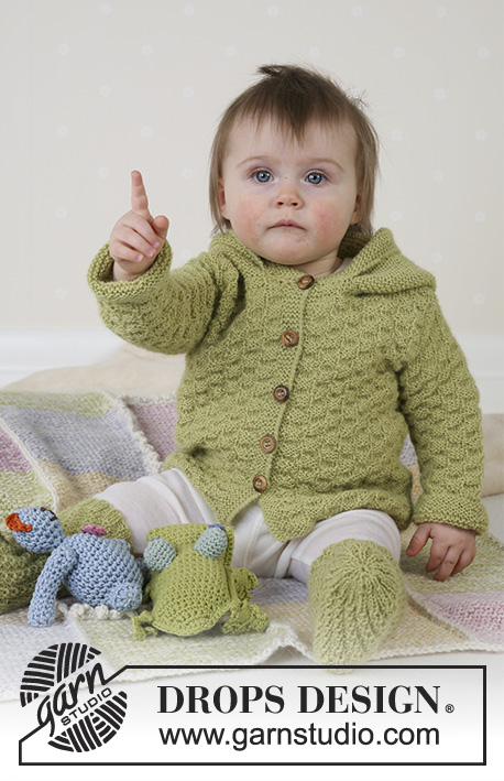 abf9ce3b5baa5d Green Leaf   DROPS Baby 14-3 - Free knitting patterns by DROPS Design