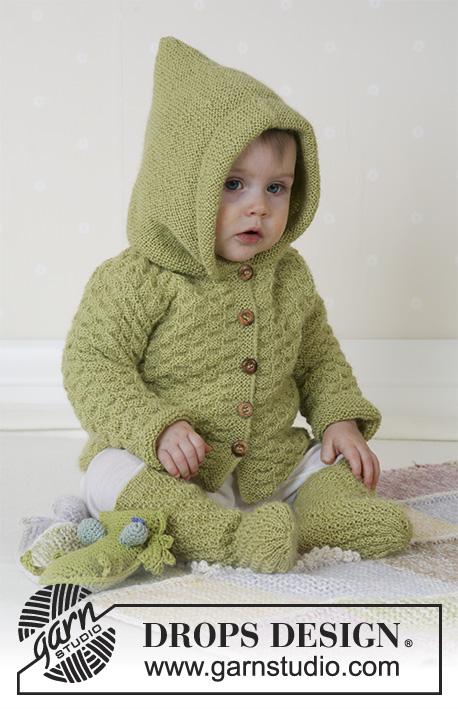 Green Leaf Drops Baby 14 3 Kostenlose Strickanleitungen Von