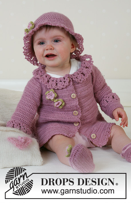 Little Miss Berry Cardigan Drops Baby 14 5 Free Crochet Patterns