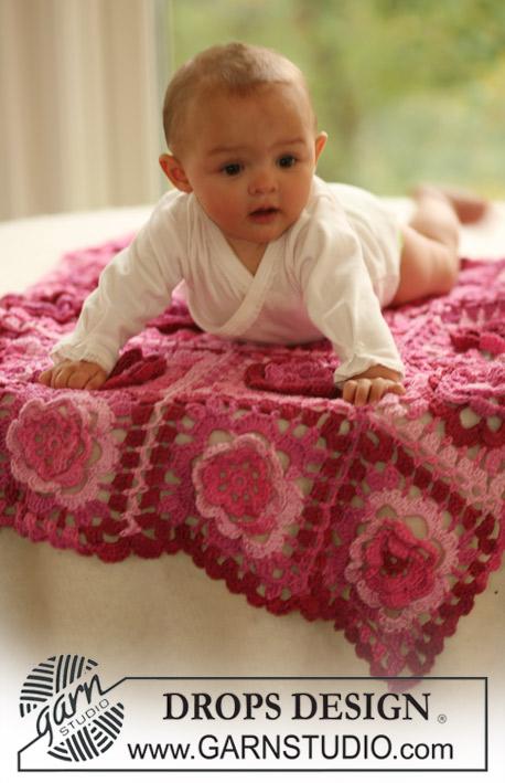 Baby Bloom / DROPS Baby 16-18 - Patrones de ganchillo gratuitos por ...