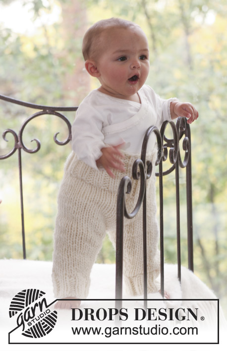 Tobias / DROPS Baby 16-21 - Pants for baby and children knitted in DROPS Eskimo