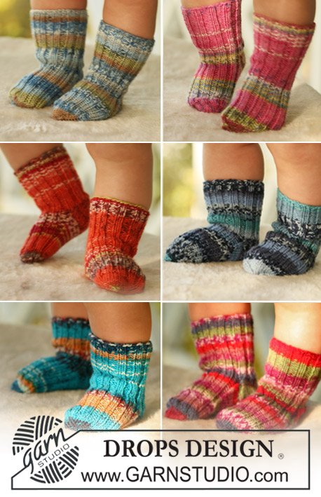 Tiny Toes / DROPS Baby 16-26 - Free knitting patterns by DROPS Design