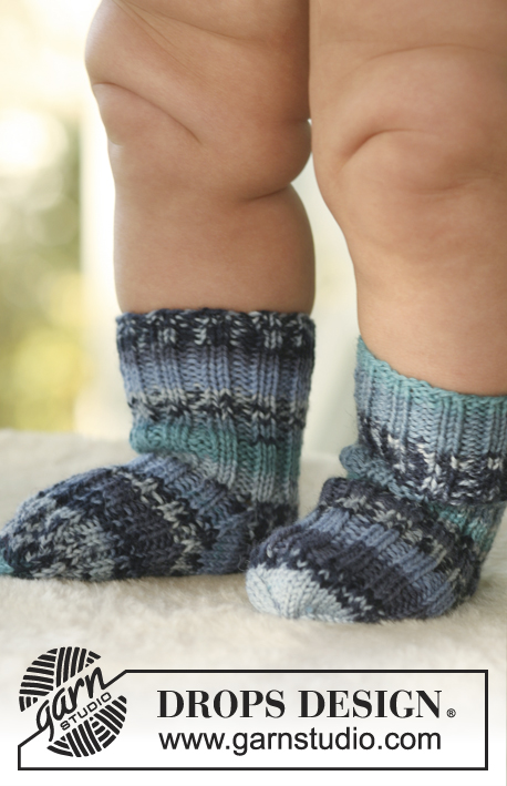 Little Jamboree Socks / DROPS Baby 16-27 - Strikket sokker til baby og barn i DROPS Fabel