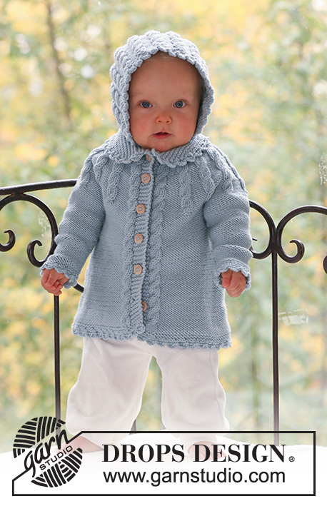 """SWEATER//JUMPER SIZES 18/"""" KNITTING PATTERN BABY//CHILDREN/'S CABLE CARDIGAN 28/"""""""