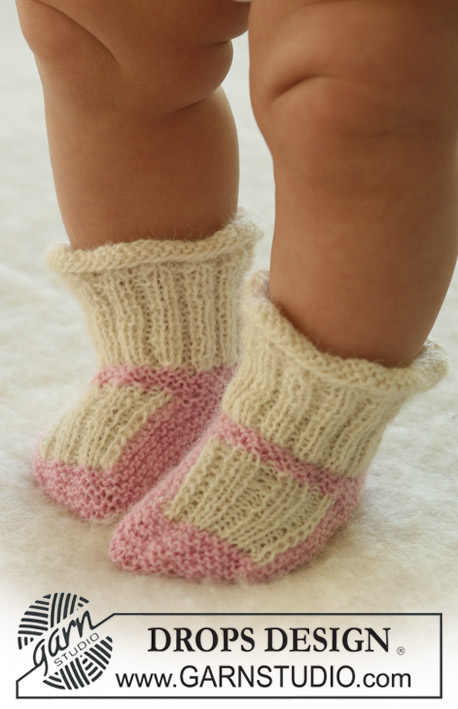 Princess Dora Socks / DROPS Baby 17-22 - Knitted socks for baby and children in DROPS Alpaca
