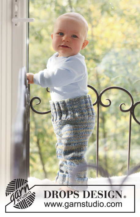 "Fun with Pants / DROPS Baby 18-19 - DROPS housut kaksinkertaisesta ""Fabel""-langasta."