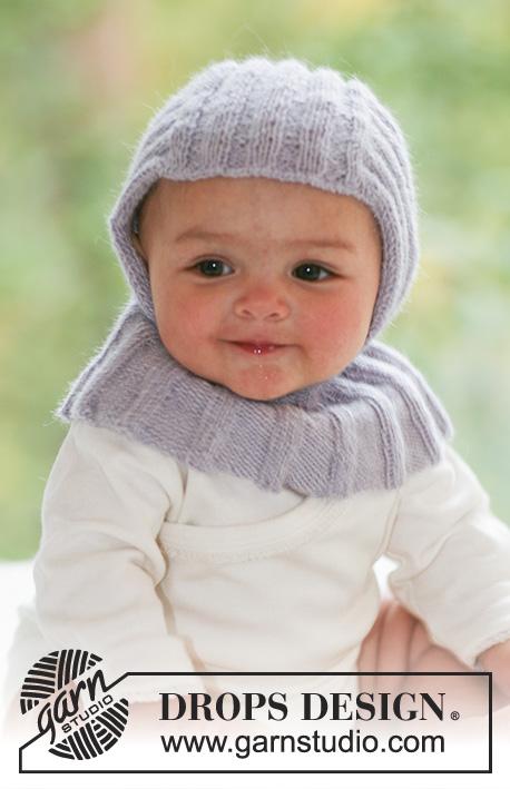 105884744910 Little Knight   DROPS Baby 18-21 - Cagoule au tricot pour bébé et enfant