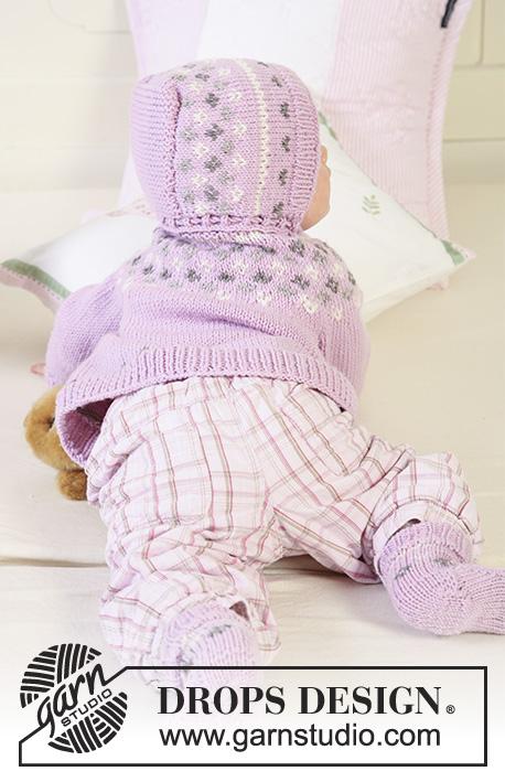 Strawberry Cheeks / DROPS Baby 19-1 - Patrones de punto gratuitos ...