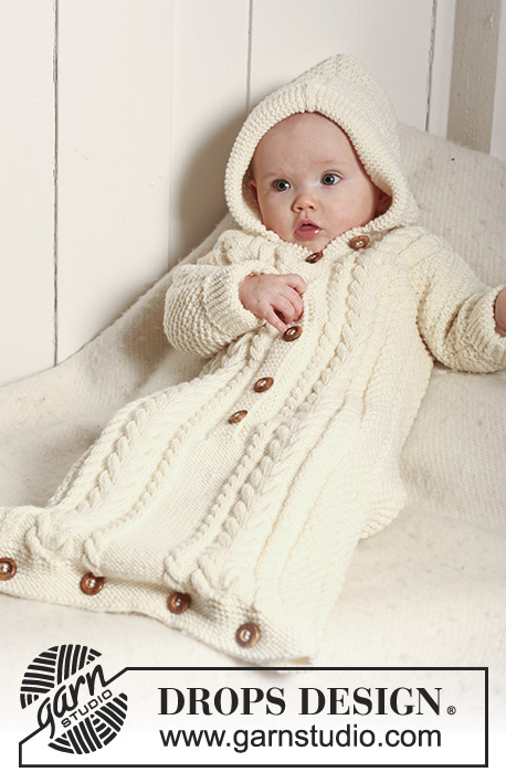 "22/""  DK Knitting Pattern Textured Button Up Baby Jacket with Hood 18/"""