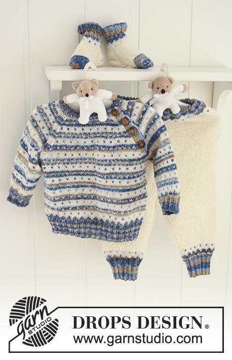 Hello Stripes / DROPS Baby 19-3 - Patrones de punto gratuitos por ...