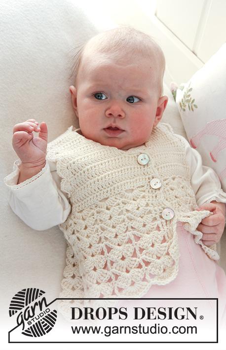 Sweet Buttercup Vest / DROPS Baby 19-7 - Patrones de ganchillo ...