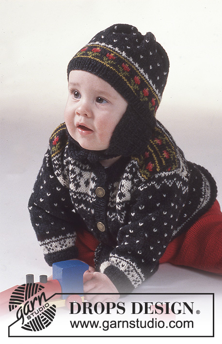 "Funny Frederic / DROPS Baby 2-11 - DROPS Jacke, Hose und Mütze in ""Camelia"""