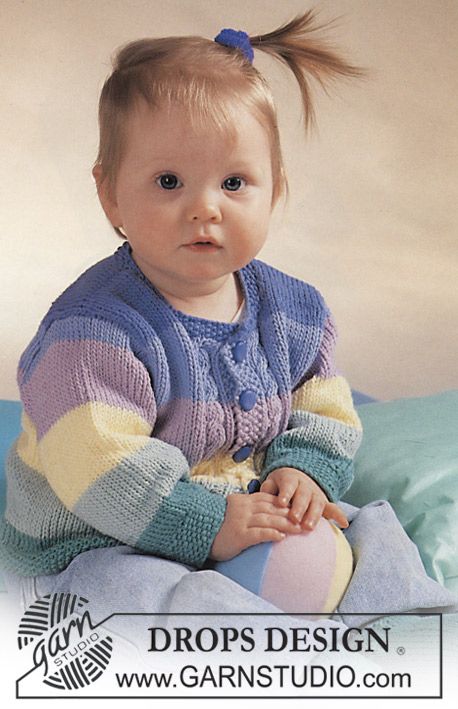 "DROPS Baby 2-16 - DROPS jacket and socks in ""Paris"" or ""Muskat""."