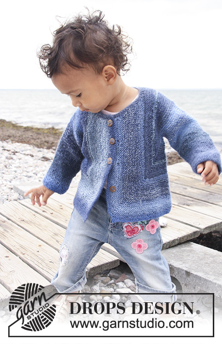 Free Knitting Pattern Childrens Jacket : DROPS Baby 20-15 - Free knitting patterns by DROPS Design