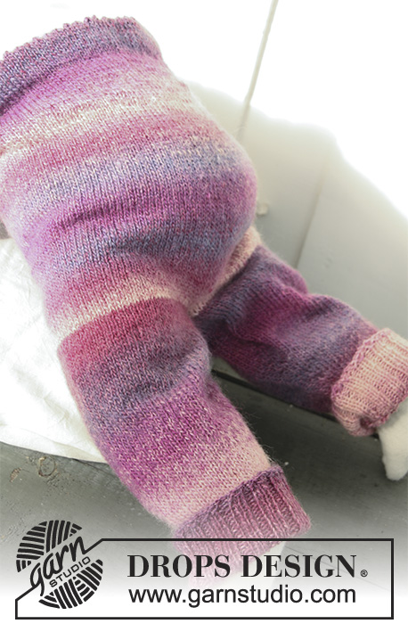 Sweet Evelina Pants / DROPS Baby 20-4 - Gestrickte Hose für Babys und Kinder in DROPS Delight