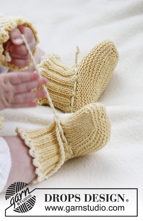 Buttercup Booties Drops Baby 21 2 Free Knitting Patterns By