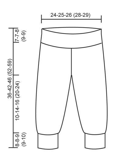7f79d00b934e Happy Ending - Stickade byxor i rätstickning till baby och barn i ...