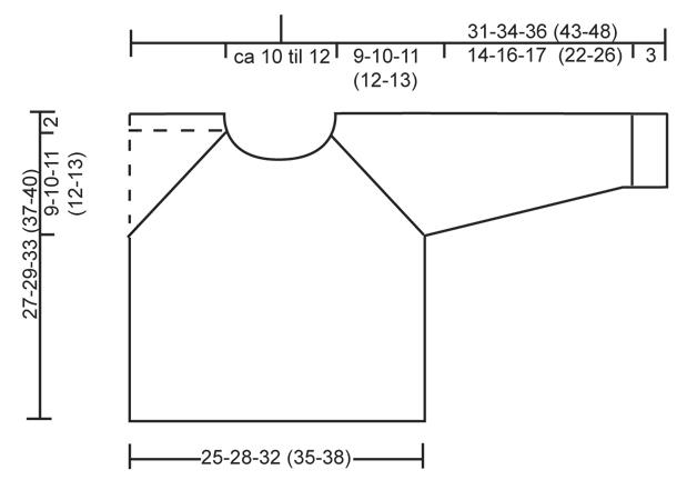 Схема вязания рукава реглан спицами снизу