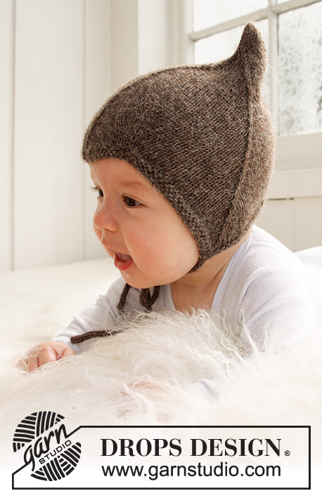 Alladin / DROPS Baby 21-34 - Knitted hat for baby and children in DROPS Alpaca