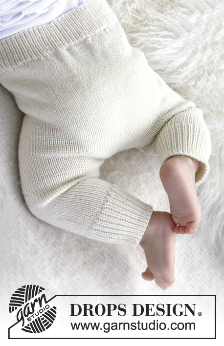 Cozy and Cute / DROPS Baby 21-36 - Gestrickte Hose für Babys und Kinder in DROPS BabyMerino