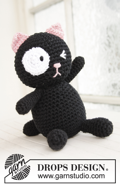 Sylvester / DROPS Baby 21-44 - Crochet cat in DROPS Paris